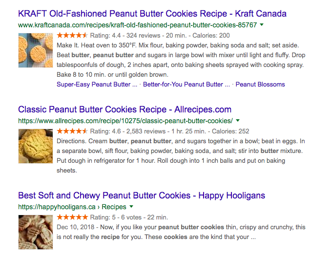 Rich snippets make your results more dynamic, visible, and engaging.