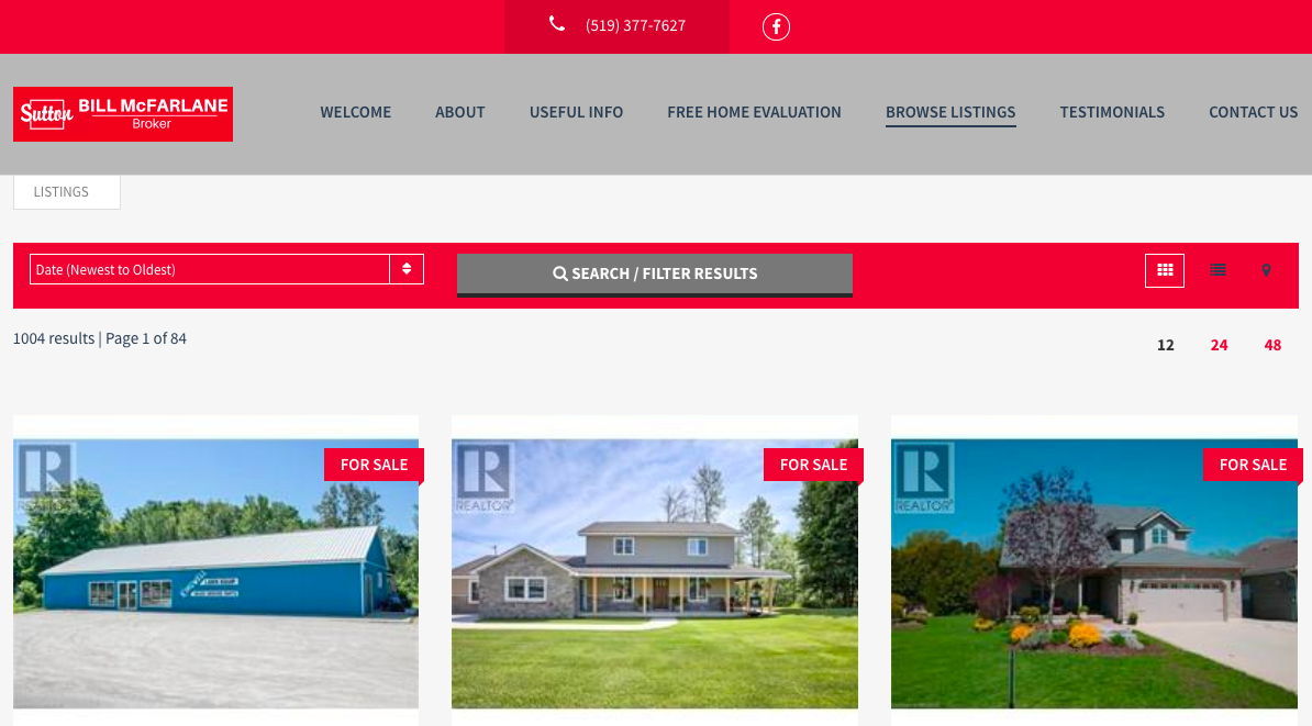 New website for real estate broker with full MLS integration