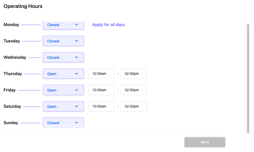 Communicate Important Information Across Channels - Store hours