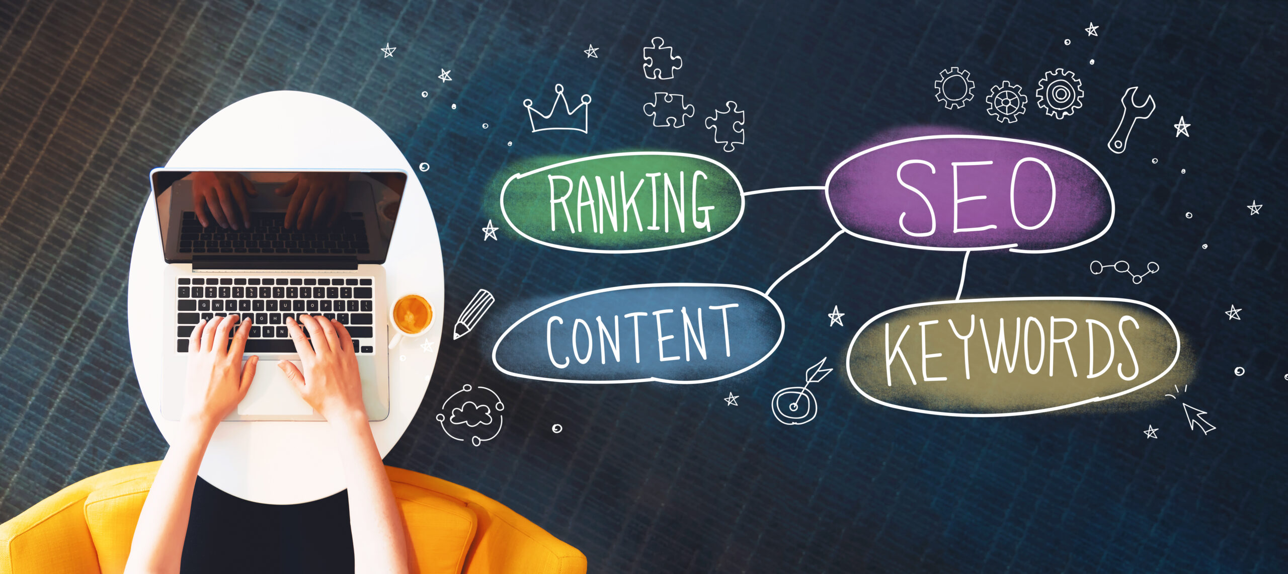 SEO image: Ranking, SEO, Content, Keywords